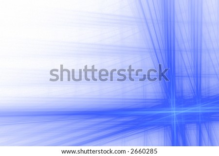 Blue abstract big flash background over white with copyspace - stock photo