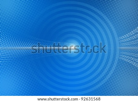 blue abstract binary code background - stock photo