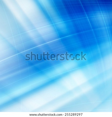 Blue Abstract Curves Lines Background Design - stock photo