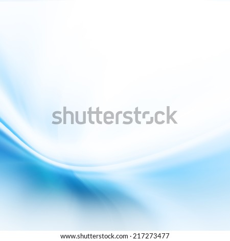 Blue Abstract Curvy Background - stock photo