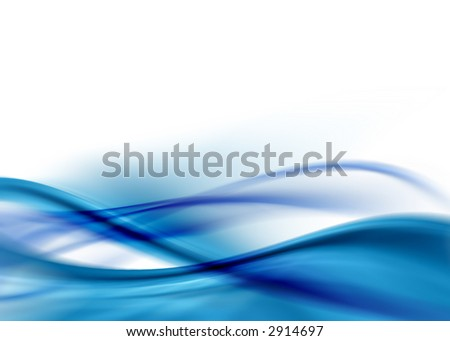 blue abstract design - stock photo