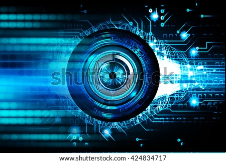 blue abstract light hi speed internet technology background illustration, Background conceptual image of digital. Cyber security concept, Cyber data digital, Cyber Technology.  pixel - stock photo