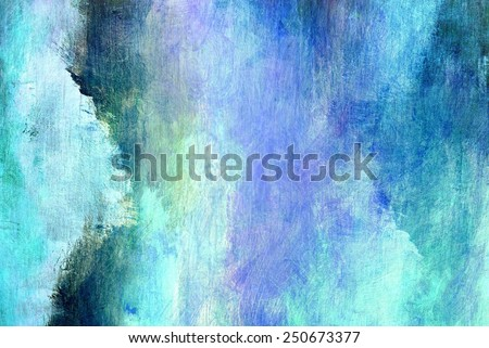 Blue abstract painting close-up - stock photo