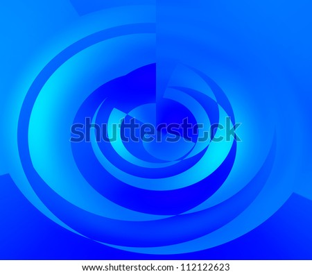 Blue Abstract Swirl Background - stock photo