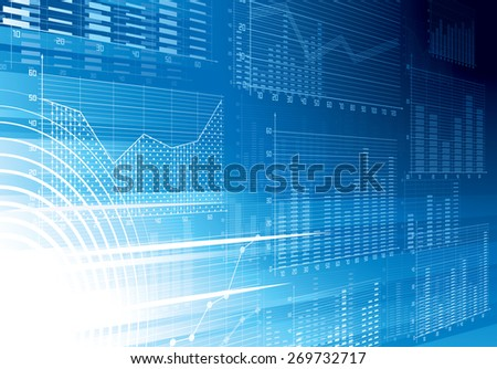 Blue abstract techno background.  - stock photo