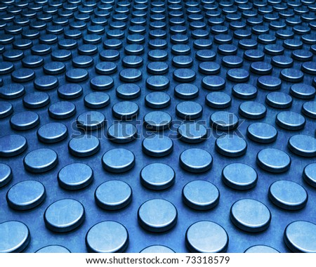 Blue abstract technology circles background - stock photo