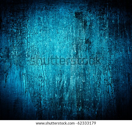 Blue abstract textured cracked grungy design backdrop - stock photo