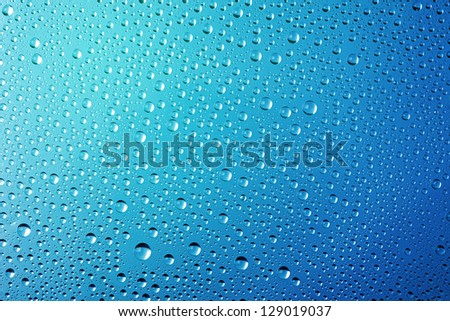 Blue Abstract Water Drops Background - stock photo