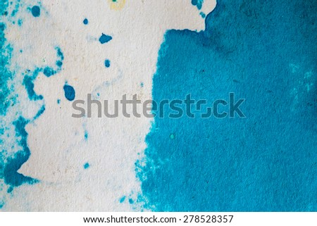 Blue abstract watercolor macro texture background - stock photo