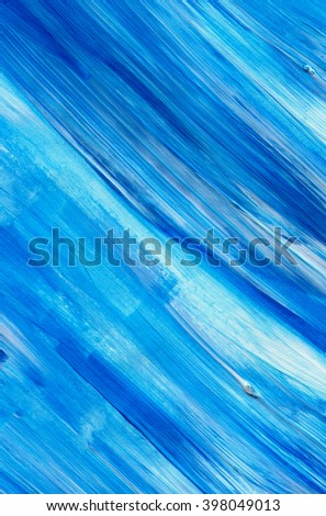 Blue acrylic paint stain isolated on white background. Dynamic Brush Stroke. Art Abstract  - stock photo