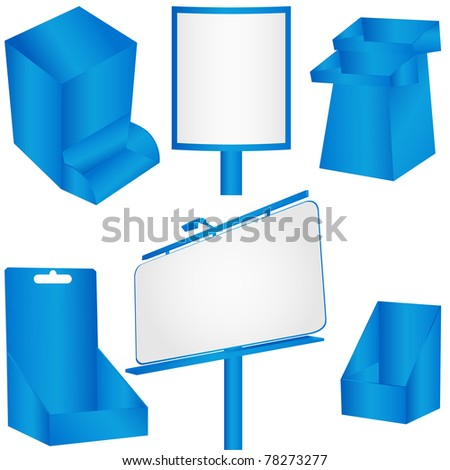Blue advertising panel. - stock photo