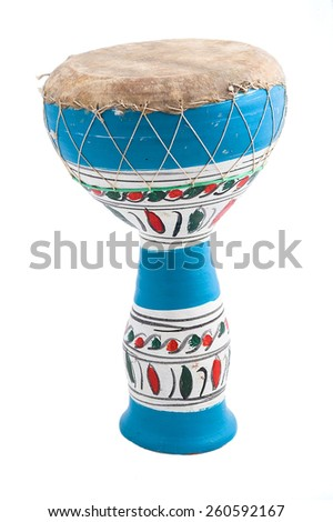 Blue african drum - stock photo