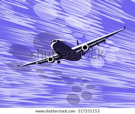 blue airplane  - stock photo