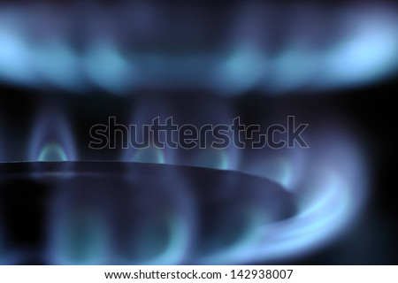Blue and clean burning natural gas - stock photo