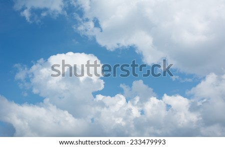 Blue and cloudy sky - stock photo