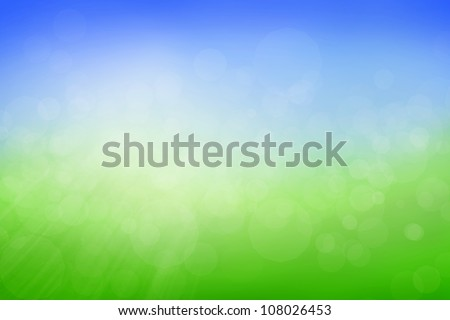 Blue and green blurry background with rays and flares - stock photo