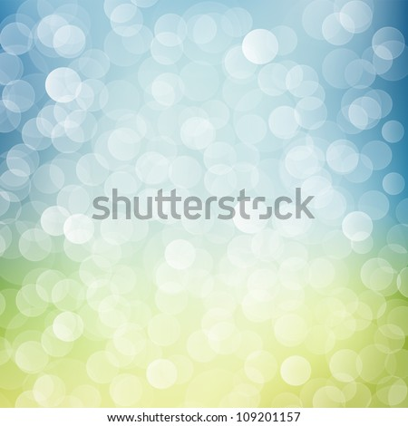 Blue and green bokeh background - stock photo