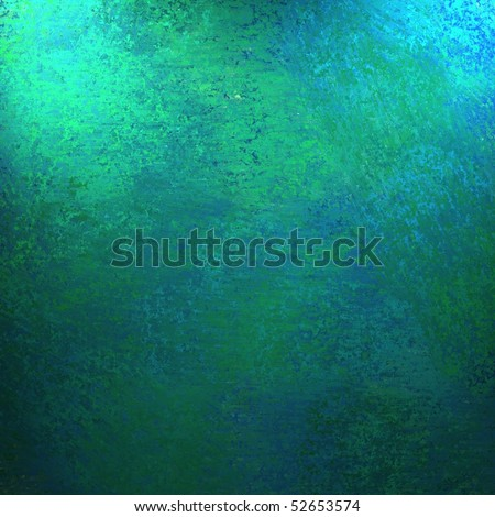 Blue and Green Smeary Oil Abstract Background or Paper with soft faded highlights and vintage grunge texture - stock photo
