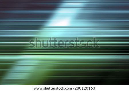 Blue and green speed blur background - stock photo