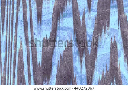 Blue and grey chevron material pattern. Zigzag background - stock photo