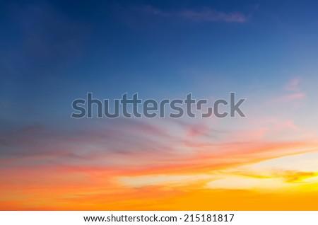 blue and orange sky in Alghero, Sardinia - stock photo