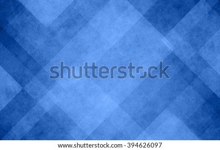 blue and white abstract background with angled lines, blocks, squares, diamonds, rectangles and triangle shapes layered in checkered style abstract pattern - stock photo
