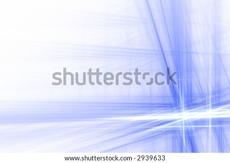 Blue and white abstract big flash background over white with copyspace - stock photo