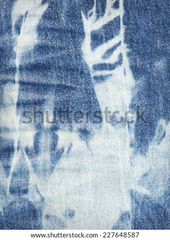 Blue and white jeans texture background - stock photo