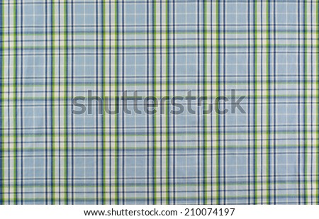 blue and white linen tablecloth - stock photo