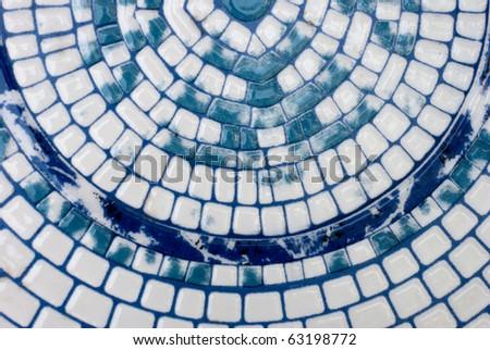 Blue and White Mosaic Background - stock photo