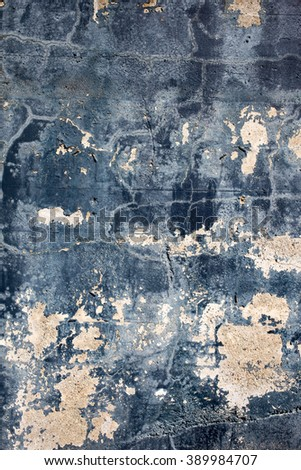 Blue and white painted concrete texture - stock photo