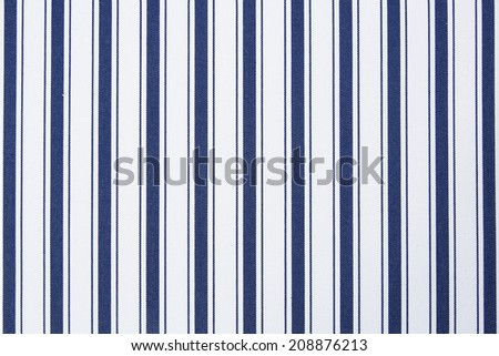 Blue and white strip pattern fabric background - stock photo