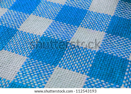 blue and white striped textile pattern - stock photo