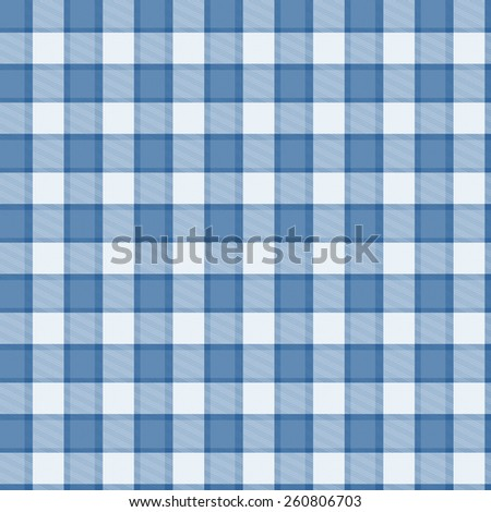 blue and White Tartan seamless background - stock photo