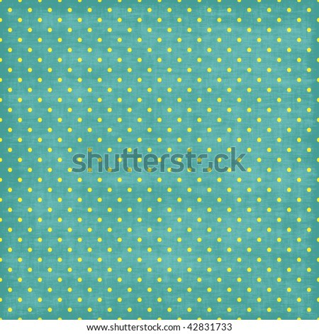 Blue and White Tiny Distressed Polka Dots - stock photo