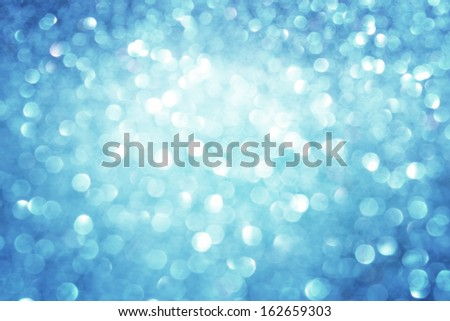 blue ans silver defocused lights background - stock photo