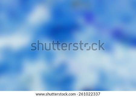 Blue Background Blur - stock photo