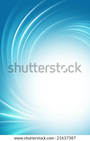 Blue background, twirl - stock photo