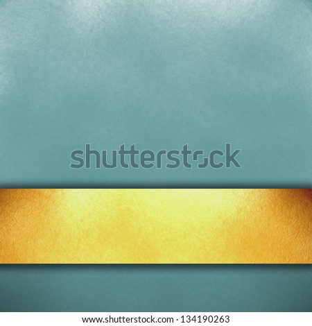 blue background with a gold stripe paint - stock photo