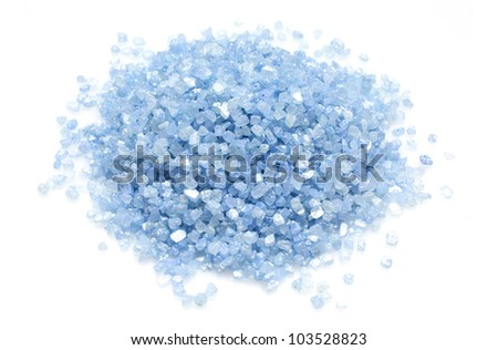 Blue bath salts - stock photo