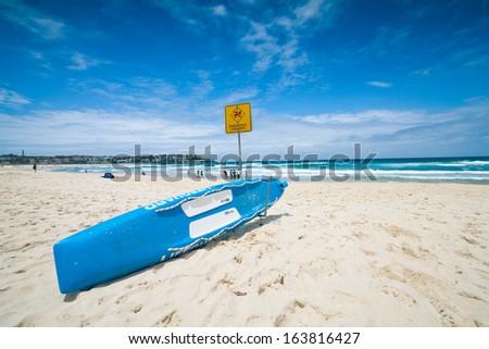 blue beach - stock photo