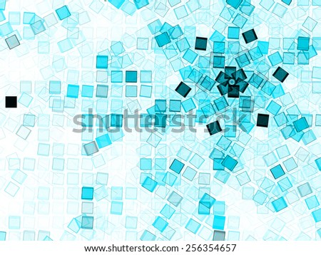 blue beautiful abstract lihgt cubes background - stock photo