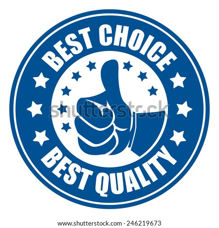 blue best choice best quality sticker, badge, icon, stamp, label, banner, sign  isolated on white  - stock photo