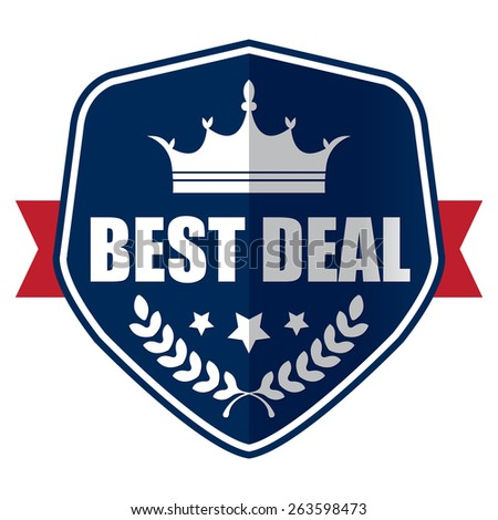 blue best of the best 100% guarantee sticker, sign, stamp, icon, label isolated on white - stock photo