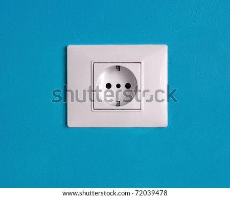 Blue/Bio power - stock photo