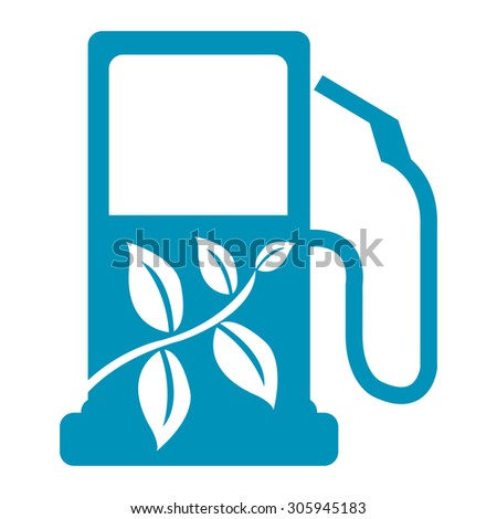 Blue Biofuel Infographics Flat Icon, Sign Isolated on White Background - stock photo