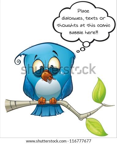 Blue Bird Emotional - stock photo