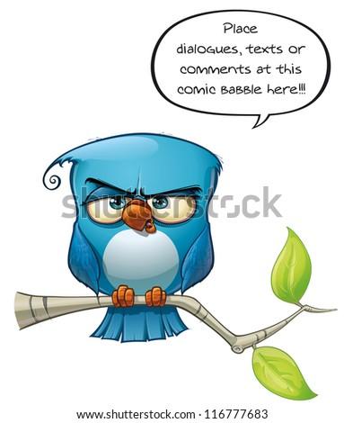 Blue Bird Strict - stock photo