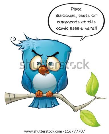 Blue Bird Wrathful - stock photo