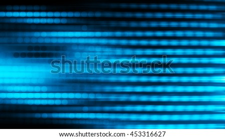 blue black Light festive background. Elegant abstract background with bokeh defocused lights. zoom motion move speed - stock photo